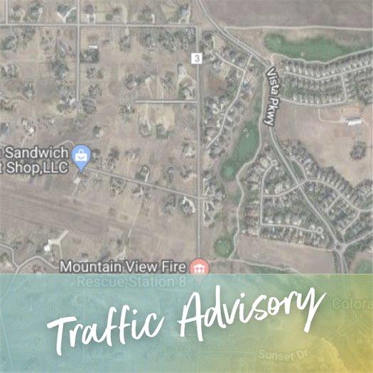 Traffic Advisory: Bonanza Drive