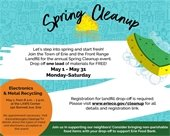 May is Cleanup and Drop-off Month