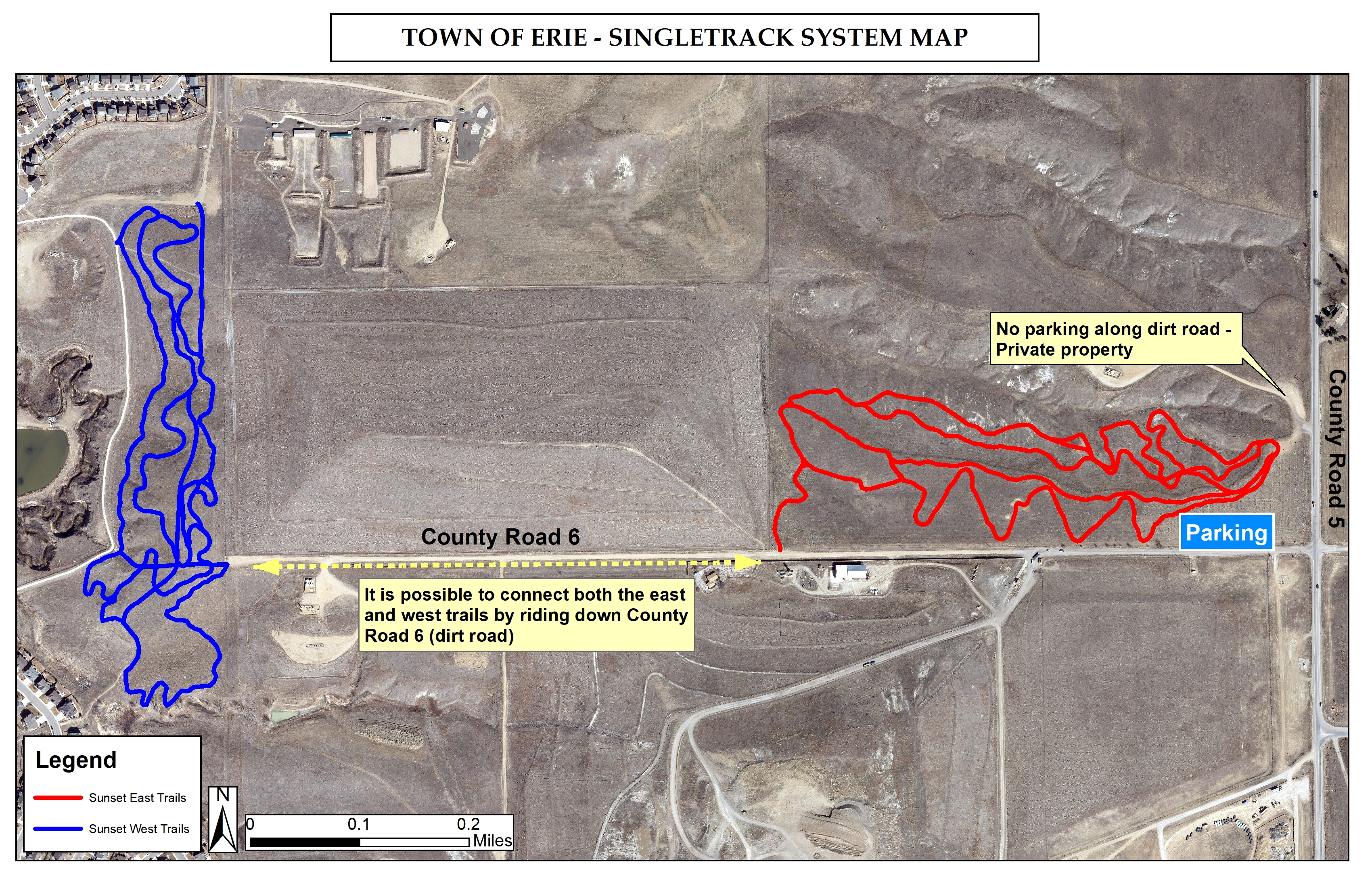 Erie Singletrack System Map