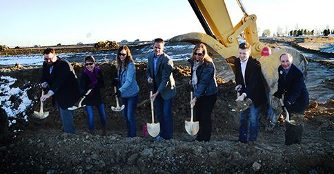 Erie Board of Trustees at King Soopers Groundbreaking - November 13, 2015